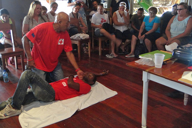 Belize Red Cross San Pedro Shares Positive New Year Message
