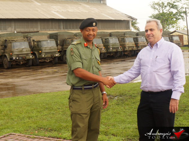British Army Hands over Trucks to Belize Defense Force