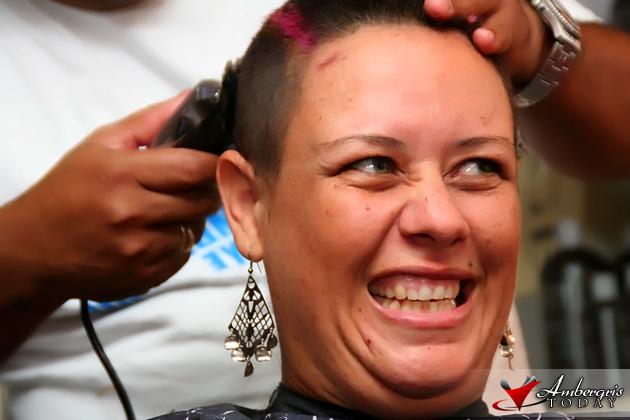 Monica Prevett shaves her hair for Cancer Awareness