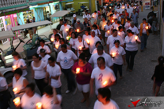 Cancer Candle Lit Walk in San Pedro