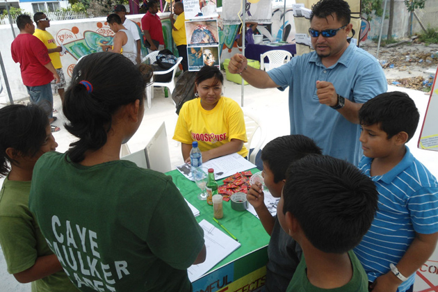National AIDS Commission Held Health Fair in Caye Caulker