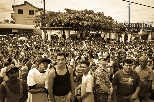 Demonstrations against crime in the San Ignacio Town, Cayo, Belize