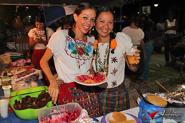 El Salvador represented during Central American Night in San Pedro, Belize