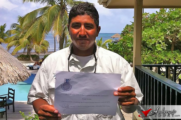 Cesar Acosta Sports Fisherman of El Pescador Lodge, San Pedro, Belize