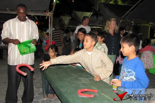 Children enjoying the games at the bazaar