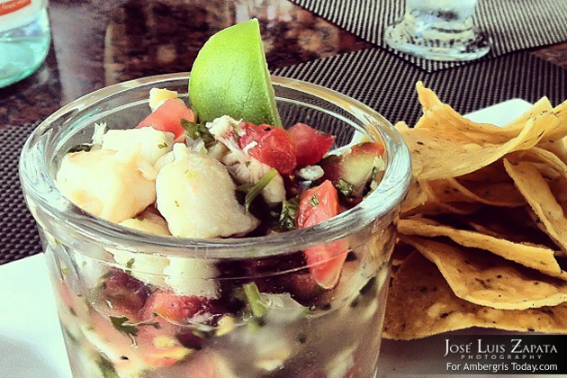 Conch Ceviche at O Restaurant, Season Closed