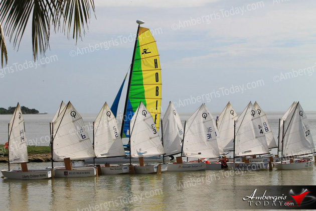 Junior Sailors from San Pedro compete at Corozal Bay Regatta