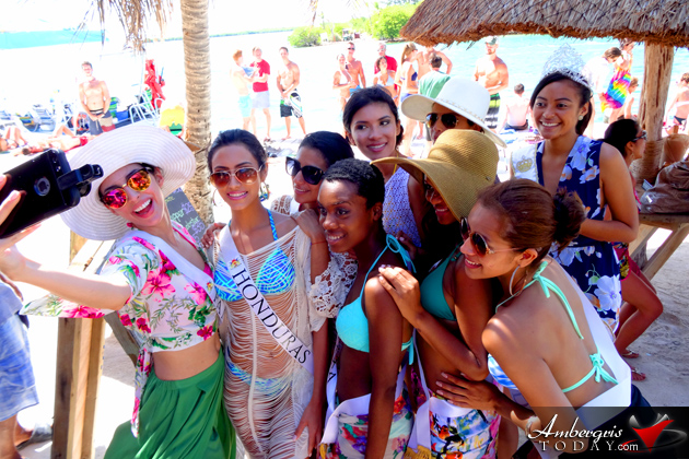 Costa Maya Pageant Delegates Paint the Town Red