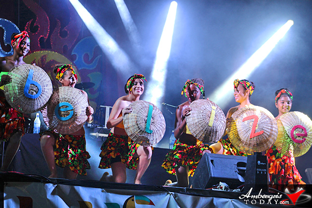 Belize National Dance Company performs at International Costa Maya Festival