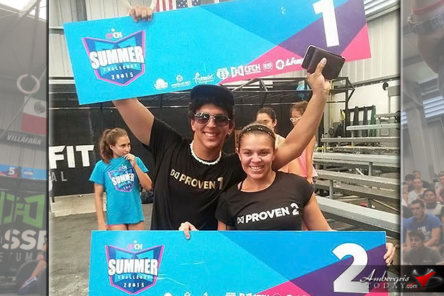 Josh Nunez and Luisana Guerrero 1st & 2nd in Chetumal Summer Challenge Crossfit