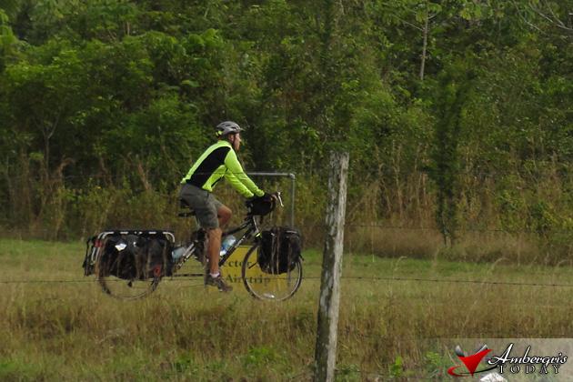 Paul Joseph Park bikes through Playa del Carmen