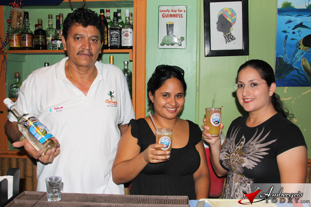 Sofia and Perlita sample Caliente's Bartender Enrique's Panty Ripper