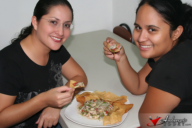 The Angels Making Horse Conch Ceviche