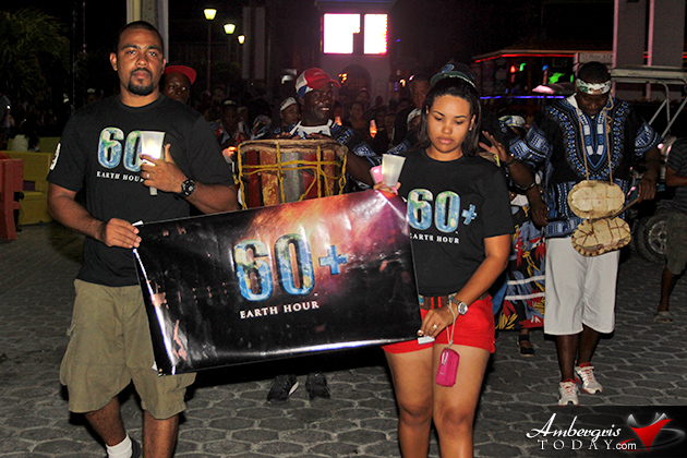 Ambergris Caye Joins in Earth Hour 2016 Observance