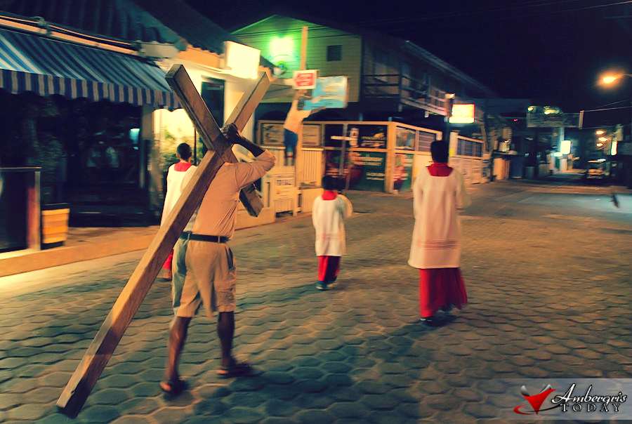 Way of the Cross makes its way through the streets of downtown San Pedro
