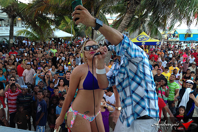 Huge Crowds Flood Ambergris Caye for Easter Weekend, DJ Zog at Holiday Hotel
