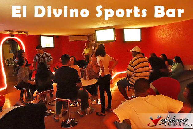 New Sports Bar opens at El Divino Restaurant, San Pedro, Belize