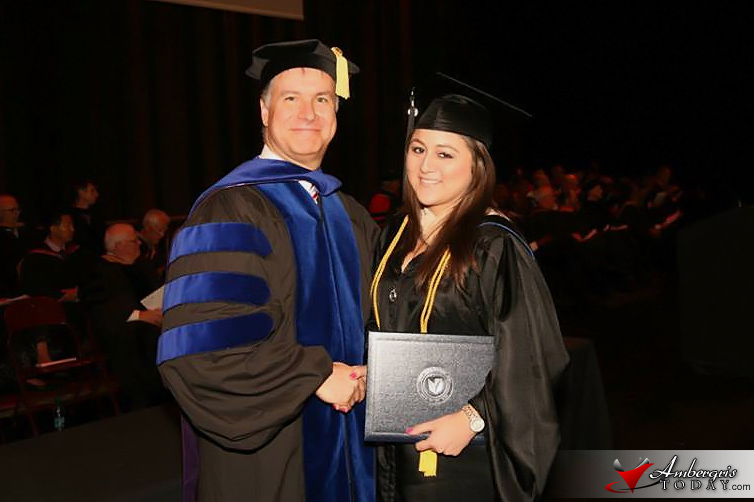 Emily Verde Graduates with Honors from Management of DeVry University