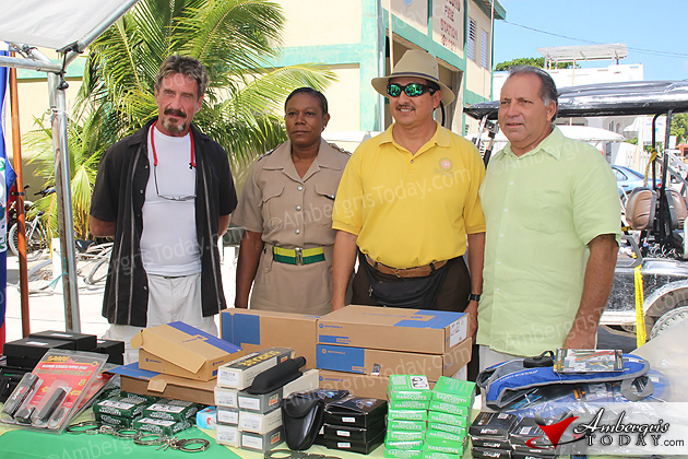 John McAfee donates equipment to San Pedro Police Department