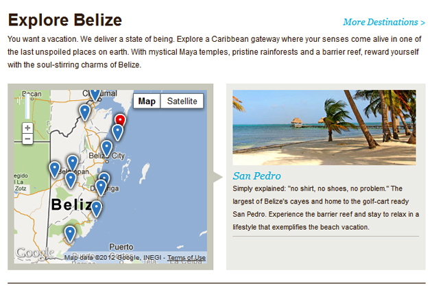 Explore Belize on Belize Tourism Board website