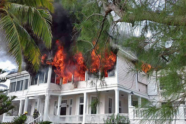 Belizean History Destroyed as Chateau Caribbean Hotel Burns Down