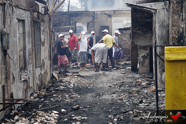 Ambergris Caye's Massive Efforts to Assist 88 Fire Victims and Cleanup