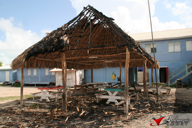 Palapa at the R.C. Primary School burns down