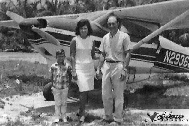 Jonh Greif was one of the first to fly air planes to Ambergris Caye