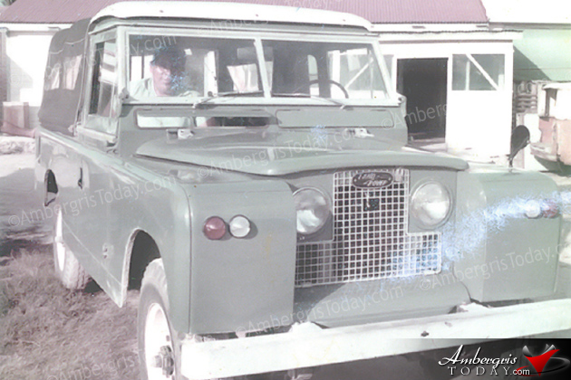 First land rover in San Pedro, Ambergris Caye -For Caribena Fishing Cooperative