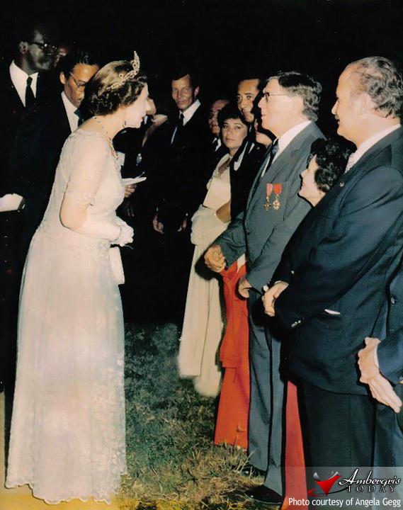 flashback -Edgar Gegg Meets Queen Elizabeth II In Belize