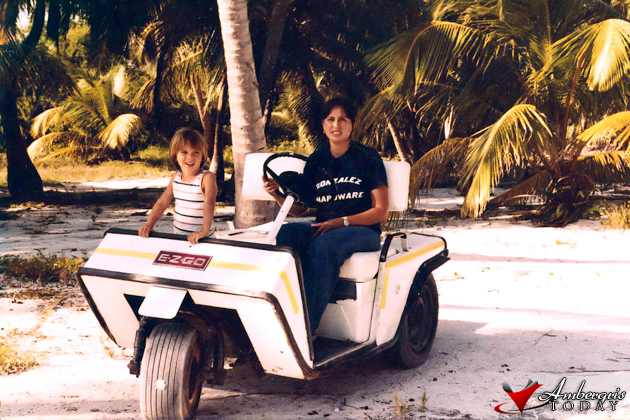 Kevin and Iraida Gonzales Fist Golf Cart