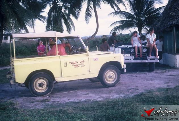 First Yellow Cab in San Pedro, Ambergris Caye