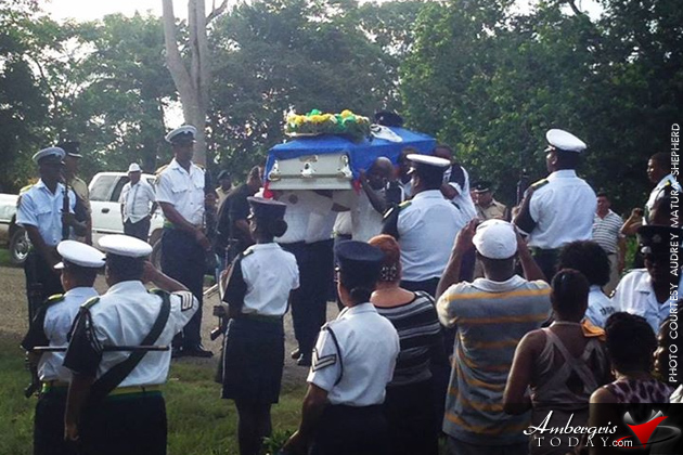 Funeral of Special Constable Danny Conorquie shot at Caracol Maya Site