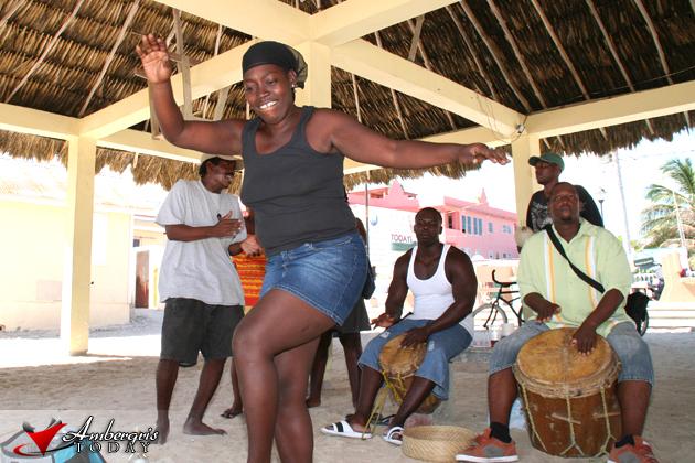 Garifuna Drummers Celebrate at Central Park