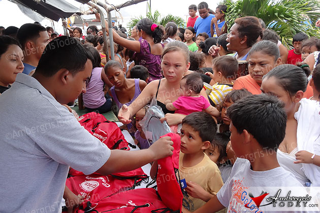School supplies and Grace Kennedy products shared with needy island residents