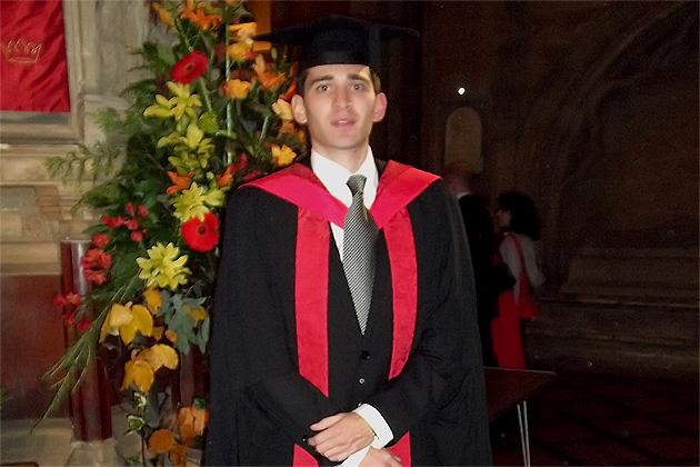 Greg Hylands graduates from University of England Bristol