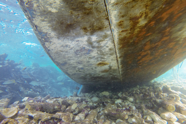 American-Registered Vessel Grounded in Southern Belize Waters