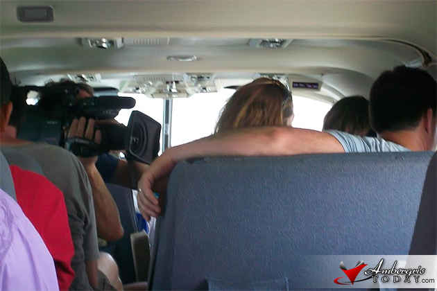 Film Crew of HGTV's House Hunters International on its way to San Pedro, Belize