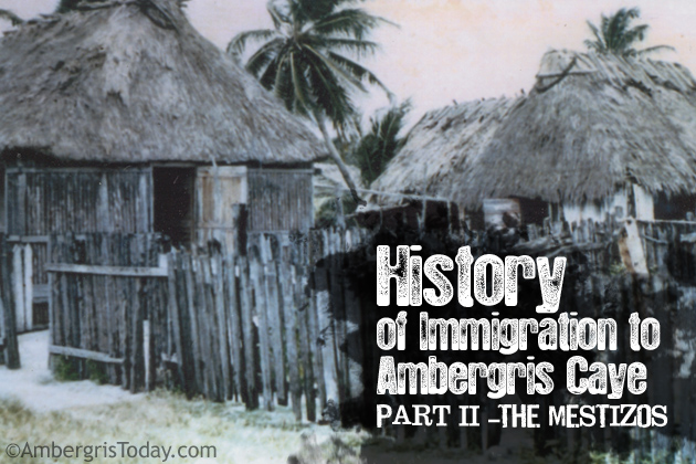 First Thatch Houses In Ambergris Caye, Belize By The Mestizos