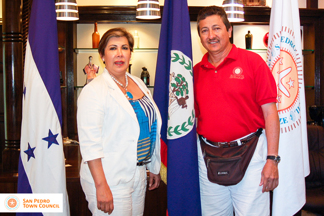 Ambassador of the Republic of Honduras visits Ambergris Caye, Belize