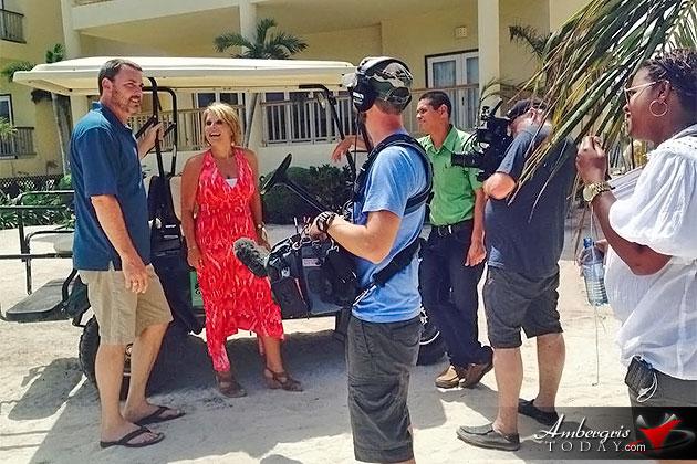 HGTV House Hunters International Film crew in San Pedro, Ambergris Caye, Belize