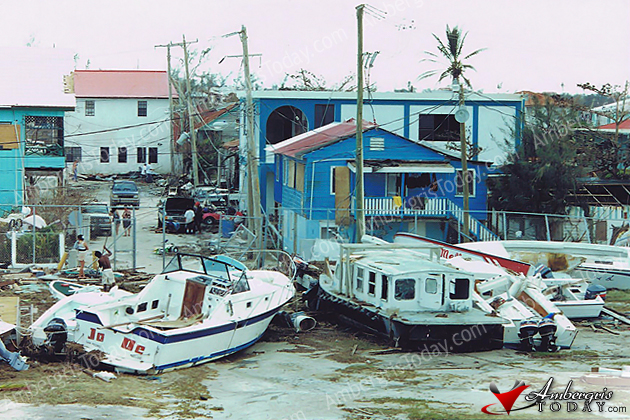 Hurricane Keith damage in San Pedro, Belize