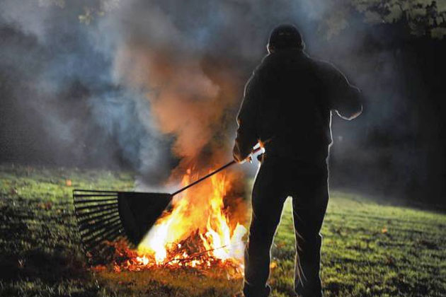 Town Council Announces Illegal Burning of Yard Garbage