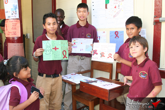 AIDS Presentation by Std. V & VI Students of IBES