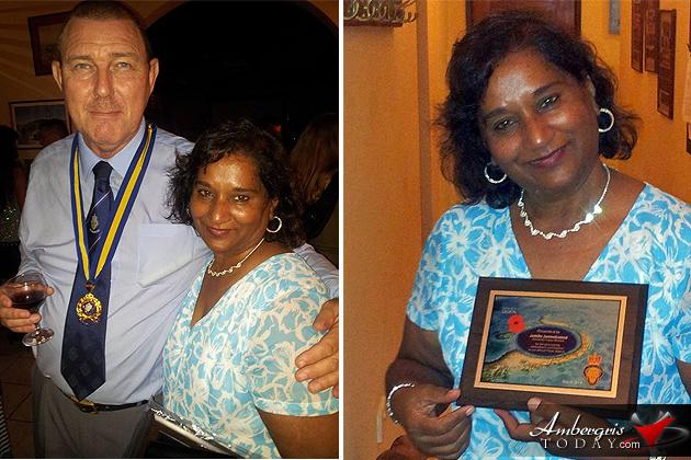 Jamila Janmohamed Awarded by Royal British Legion Belize