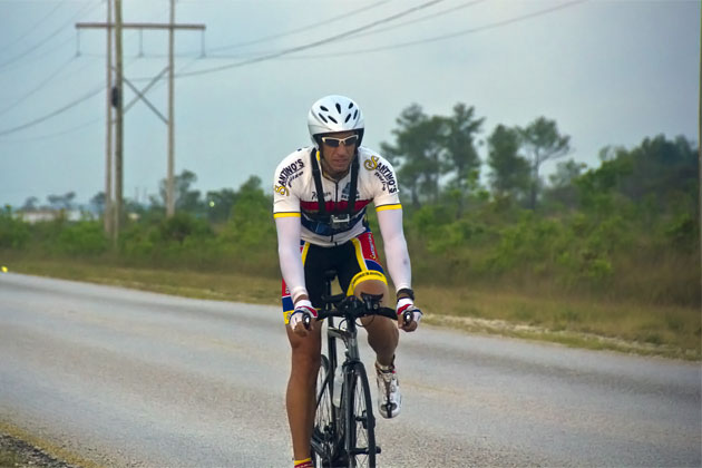 Jim Scott trains for the Cozumel Iron Man Challenge