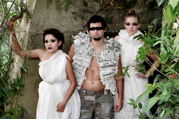Earth Day Models display Joris Hendrik's Eco Love Clothing Line