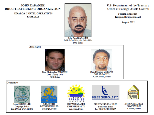 Belizeans allegedly tied to Sinaloa drug cartel