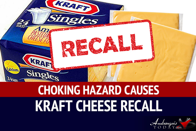 Kraft Heinz Foods Company Recalls Wrapped American Cheese Slices Choking Hazard