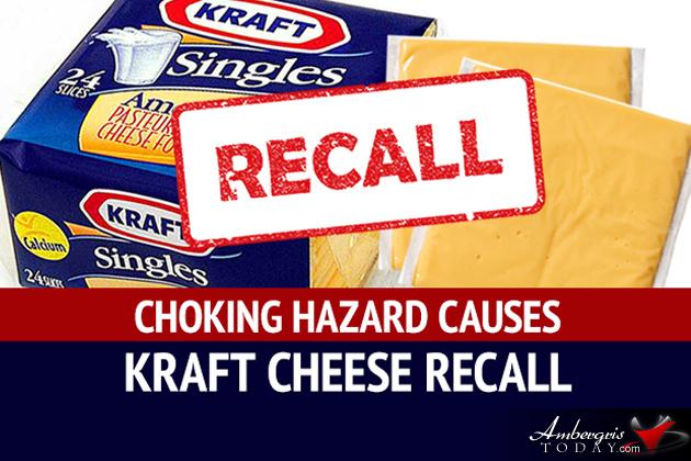 Kraft Heinz Foods Company Recalls Wrapped American Cheese Slices Choking Hazard